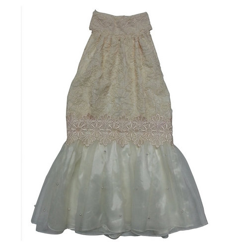 Lace dress-Cream