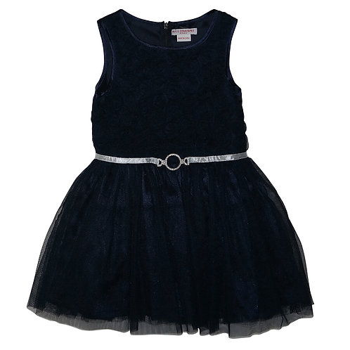 GRACE TULLE DRESS NAVY