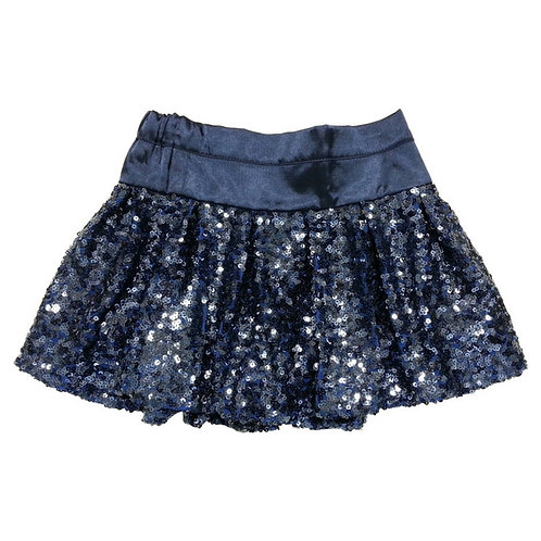 Evie sequin Balloon skirt-Royal blue