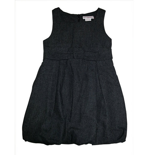 Aria balloon dress-Charcoal