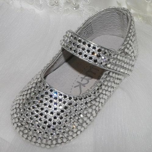 Pre order Isabella hand made Baby crystal keepsake shoes with Swarovski crystals