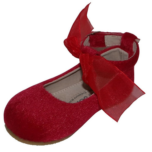 Melitta Mary Jane fury flat - Red