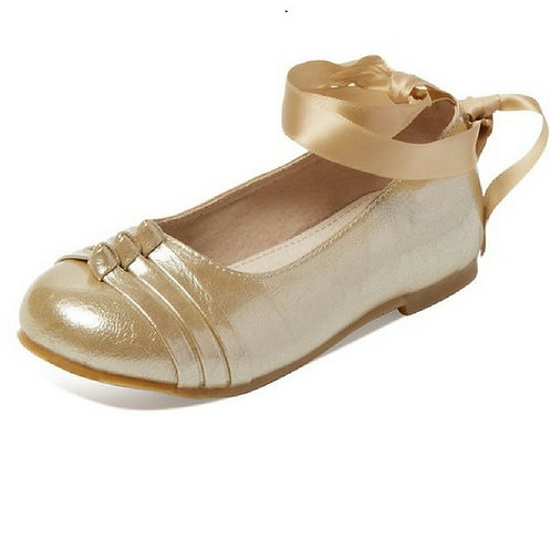 Nolitta tie up ballet flats- Champagne