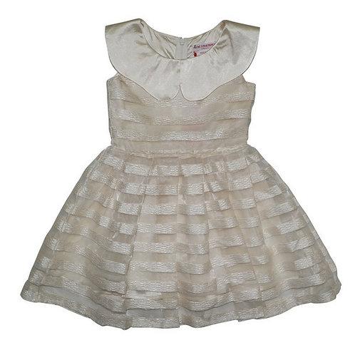 Stripe dress-cream