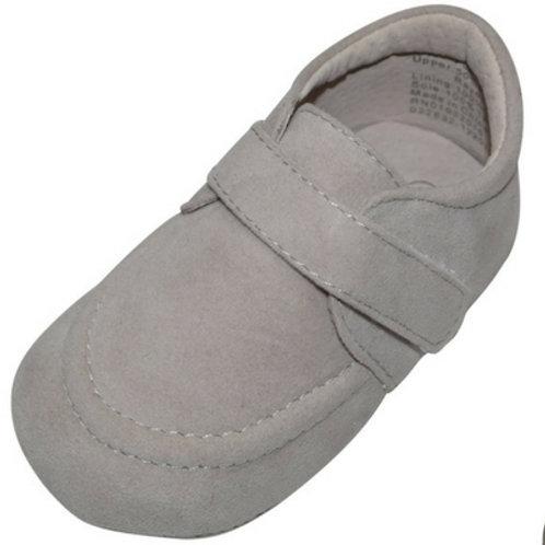 Felice Suede Velcro strap boys baby shoe -Grey