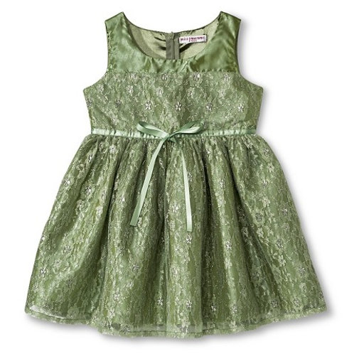 Alyssia lace dress-Green