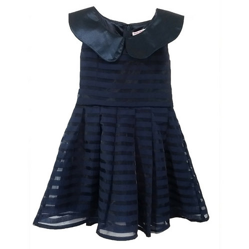 Stripe dress-Navy