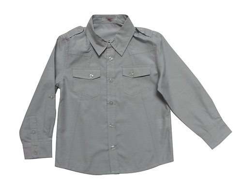 Size 2 -Boys grey shirt