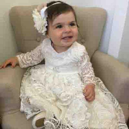 Franki Long sleeve Christening dress