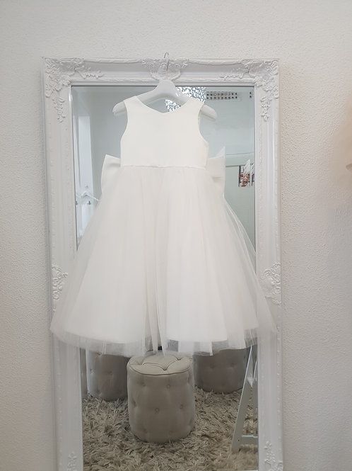 Gina Dress with big bow and tulle skirt