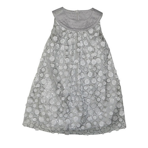 Pia swing dress-Silver