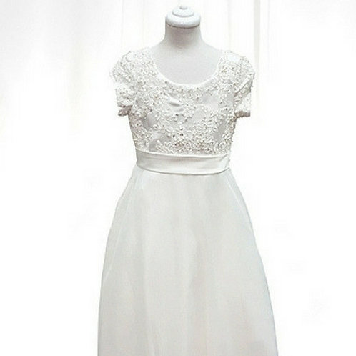 Nella flower girl/communion dress with lace bodice