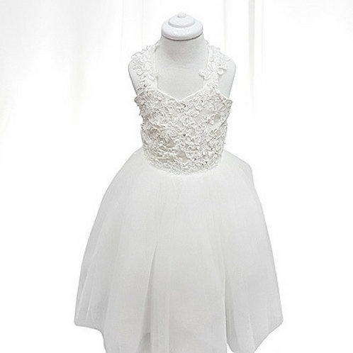 Lily flower girl/communion dress with lace bodice