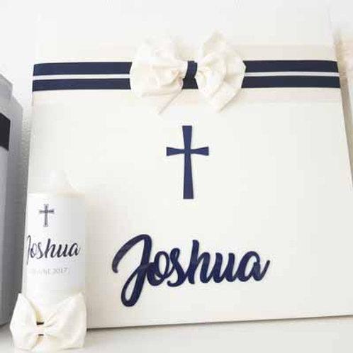Personalized Storage Box & Candle-Joshua