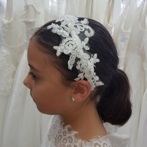 Lace and Diamonte headband