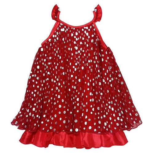Mia spot dress-Red