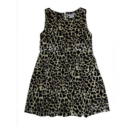 Aria balloon leopard dress-Black