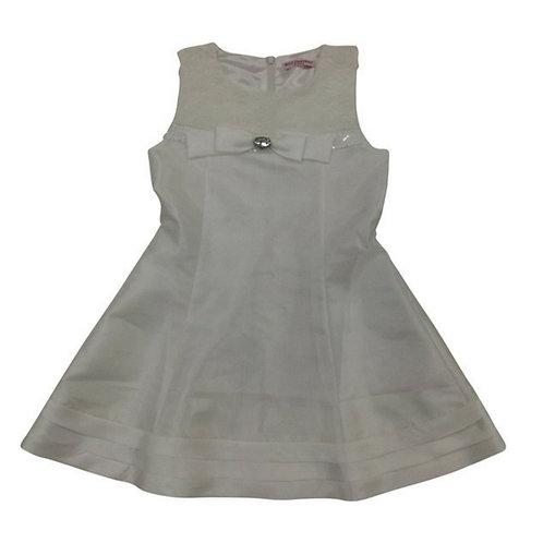 Estelle Flower Party Dress-White