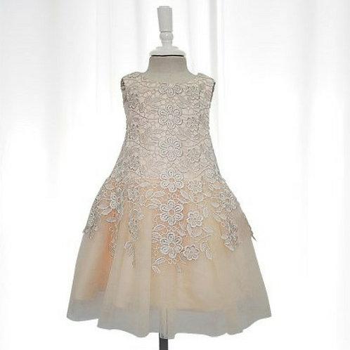 Maddy lace dress - Gold