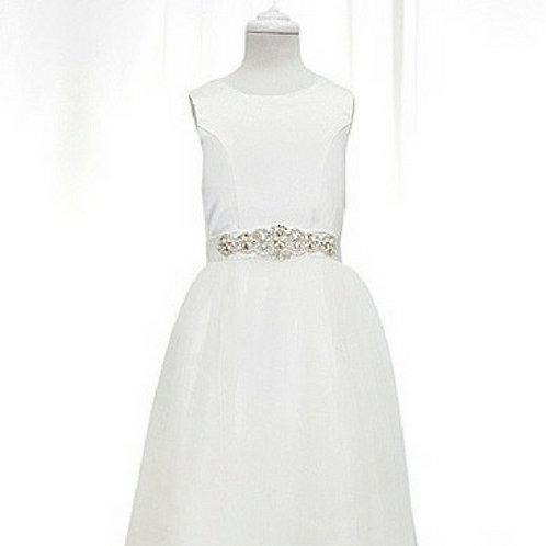Lara flower girl/communion dress with diamante belt