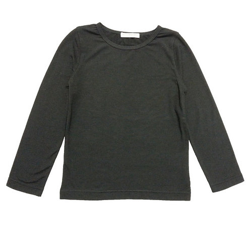 Mesh plain tops-Black