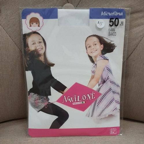 Children's Polka dot Stockings 50 Den Bianco (White)