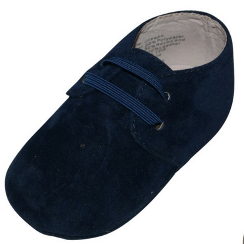Joseph Suede lace look boys baby shoes -Navy