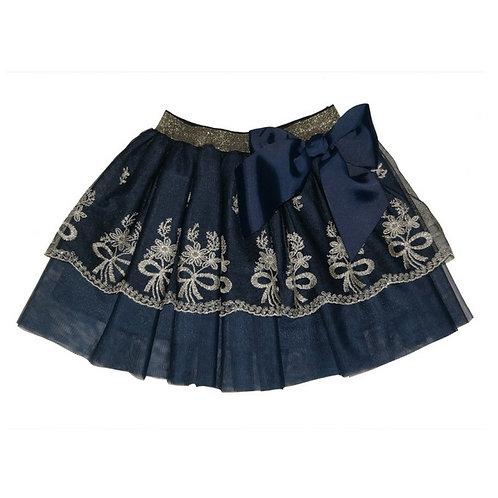 Gemma tulle lace skirt- Navy