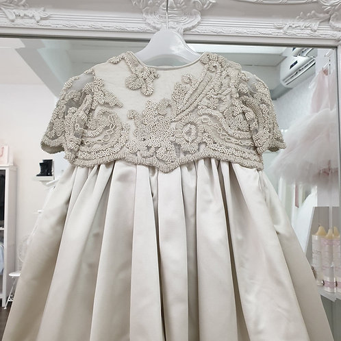 Handmade Jennifer Christening dress with beaded lace