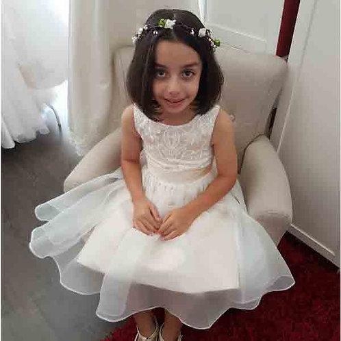 Franca champagne flower girl/communion dress