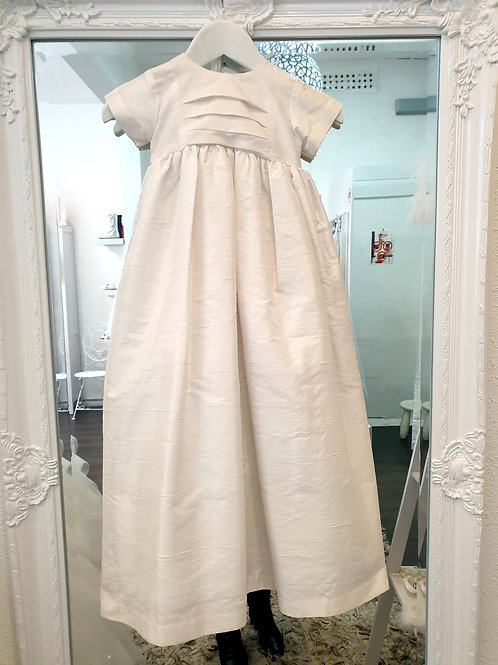 Raw Silk Unisex Christening Dress