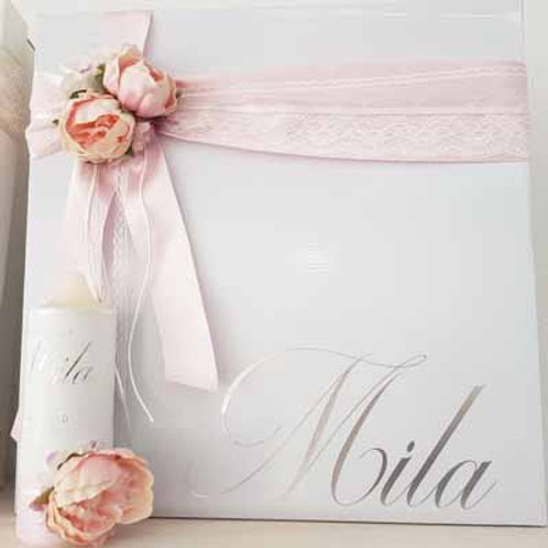 Personalized Storage Box & Candle-Mila