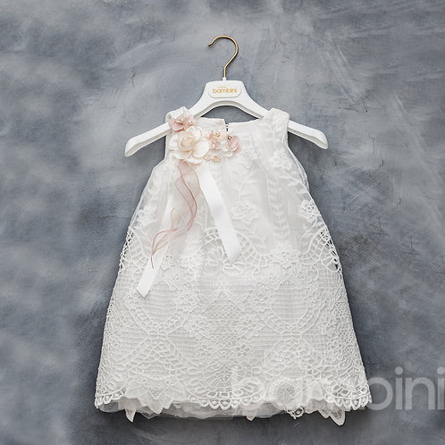 Charlotte lace dress with flower