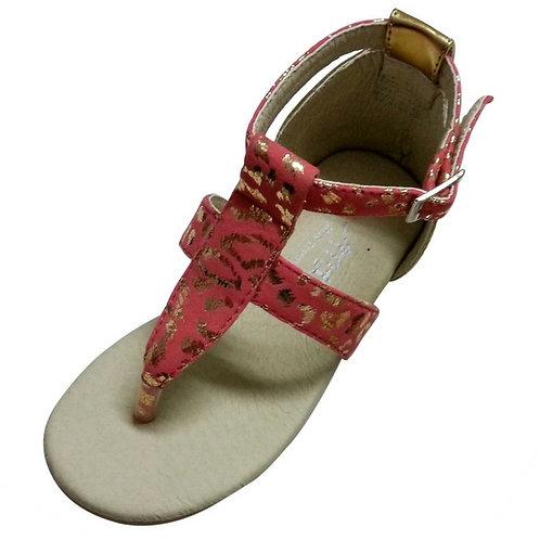 Natalie sandal Orangepink/Gold