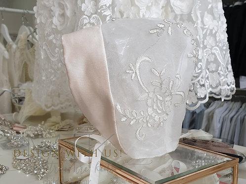 Hand made lace Bonnet