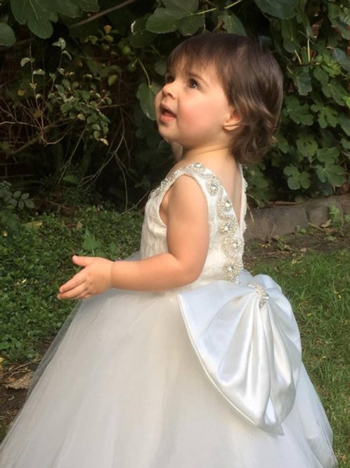 Custom made Laila V Back - Communion, Flower Girl, Christening
