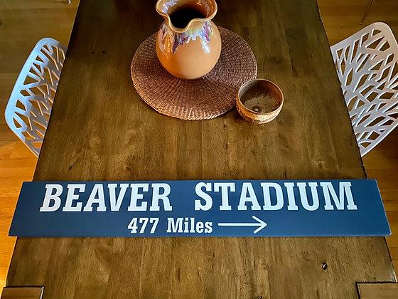 Custom Beaver Stadium Sign