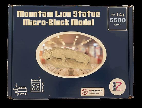 Lion Statue Micro-Block Model Kit