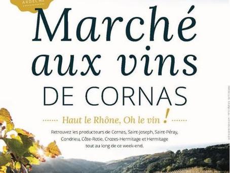 Le marché aux vins de Cornas