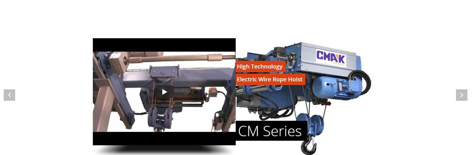 CM wire rope hoist