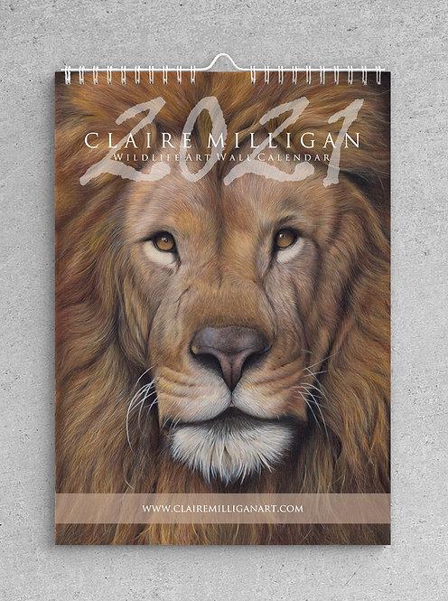 2021 Wildlife Art Wall Calendar