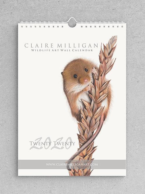 2020 Wildlife Art Wall Calendar