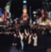 1999 Shadows cast in Times Square, New York.