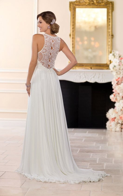 LACE AND CHIFFON BEACH WEDDING GOWN | Bridal For All Women Size 6 to ...
