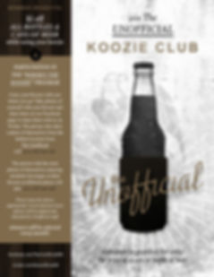 JOIN THE UNOFFICIAL KOOZIE CLUB