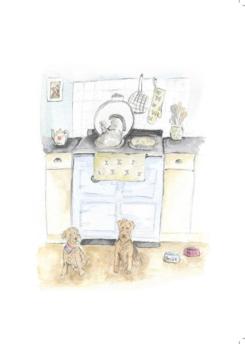 Bertie and Molly country kitchen