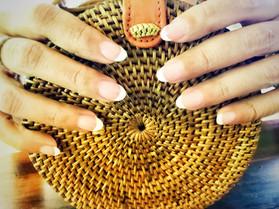 French polish nail extensions
