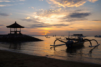 beautiful Sanur beach