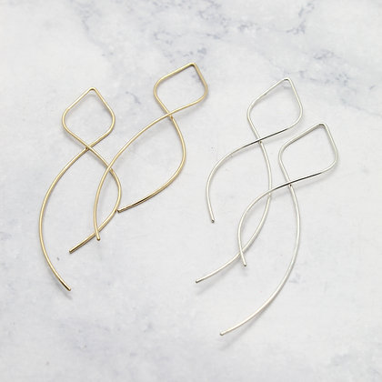Figure Eight Threader Earrings