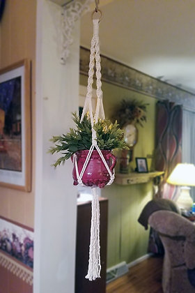 Forget Me Knots Medium Macrame Plant Hanger